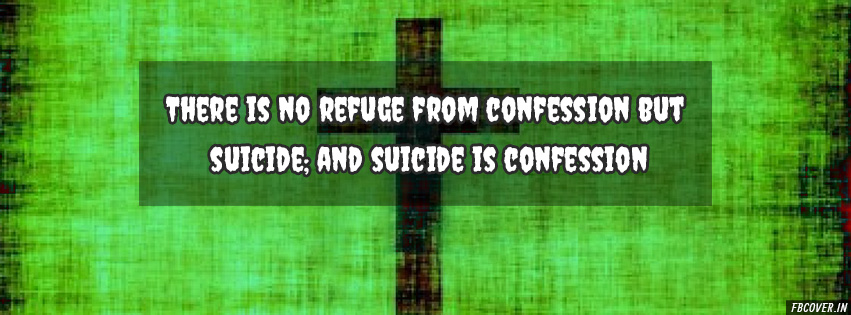 suicide is confession fb cover