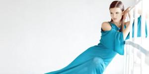 model blue dress fashion covers