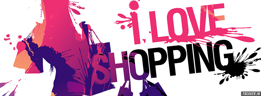 i love shopping facebook covers