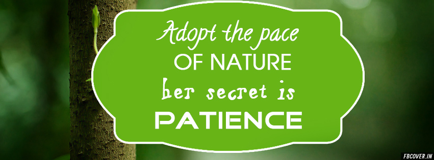 """""""Adopt the pace of nature: her secret is patience."""" —Ralph Waldo Emerson 