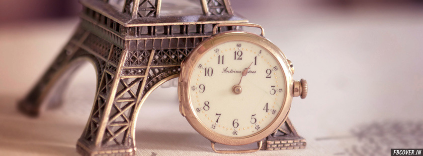 eiffel tower clock facebook covers