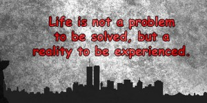 life is not a problem to be solved