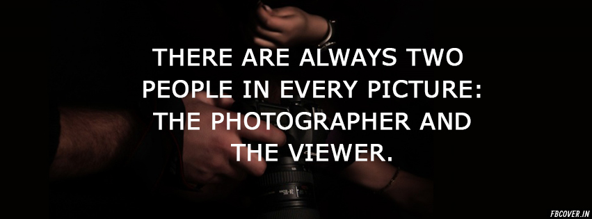 the photographer and the viewer
