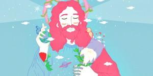 jesus colorful fb cover design
