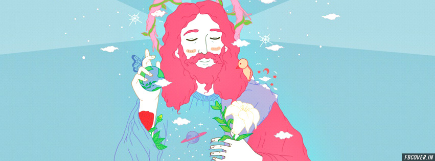 jesus colorful fb cover design