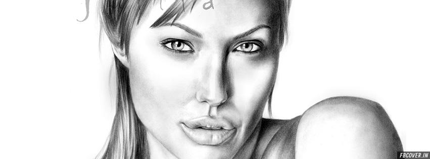angelina jolie sketch drawing