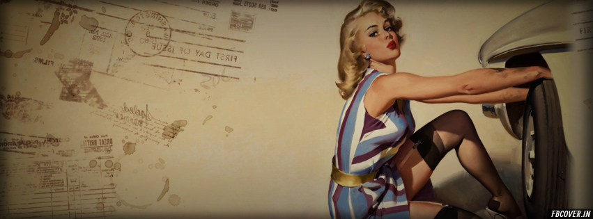 retro girls popular fb covers