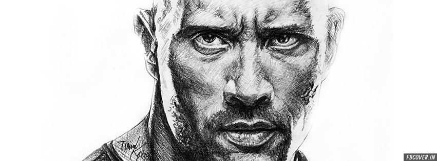 the rock pencil sketch fb covers