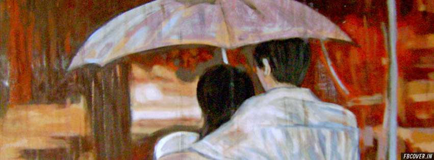 monsoon couple painting facebook cover