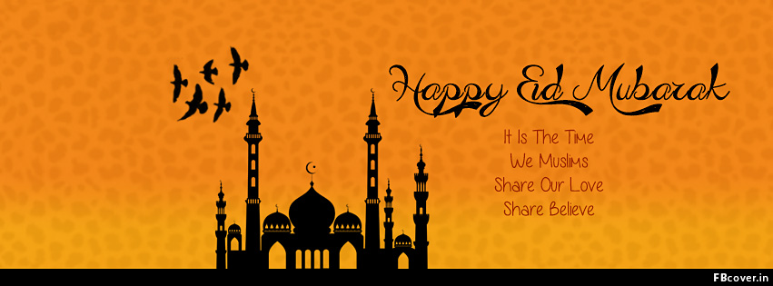 happy eid mubarak fb covers photos