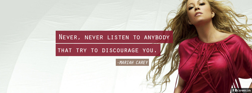 mariah carey singers quotes facebook covers