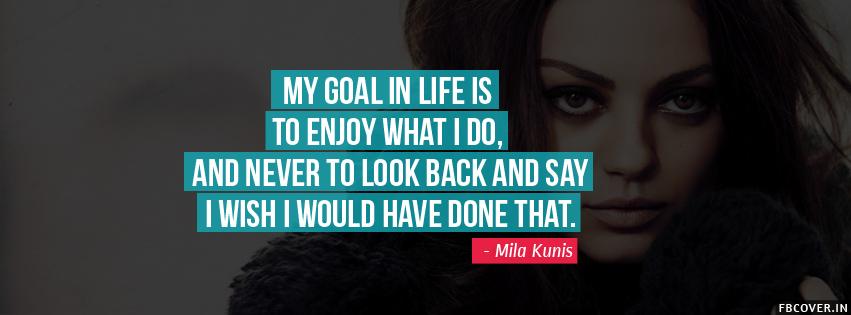 mila kunis quotes facebook covers photos
