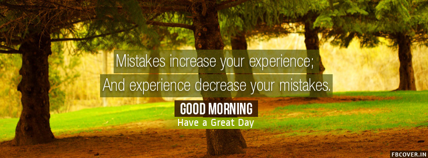 mistakes experience good morning quotes facebook covers photos