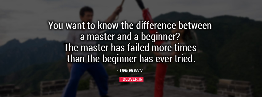 difference between master and beginner quotes fb covers