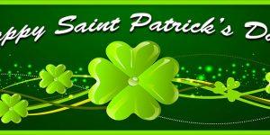 happy saint patrick's day leaf clover