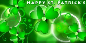 st patrick four leaf clover