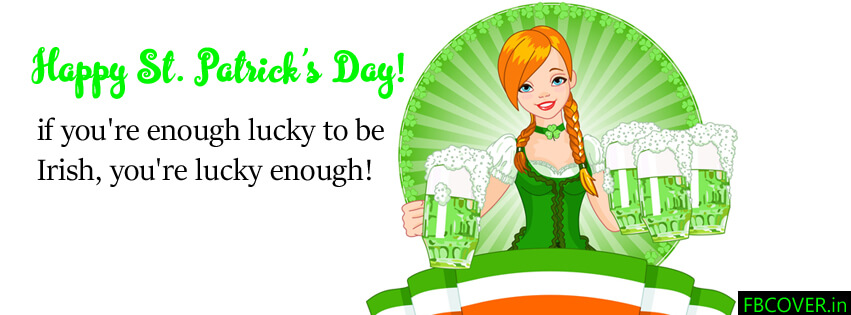 st patrick's day luck fb cover