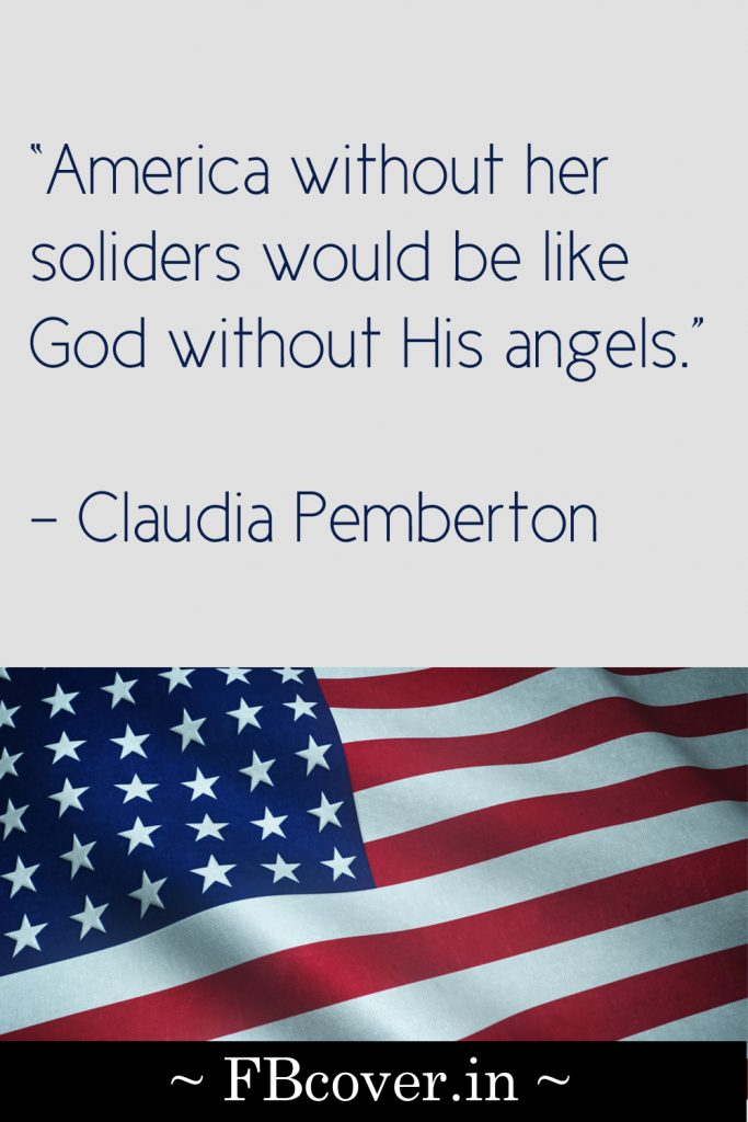 America without her soliders quotes
