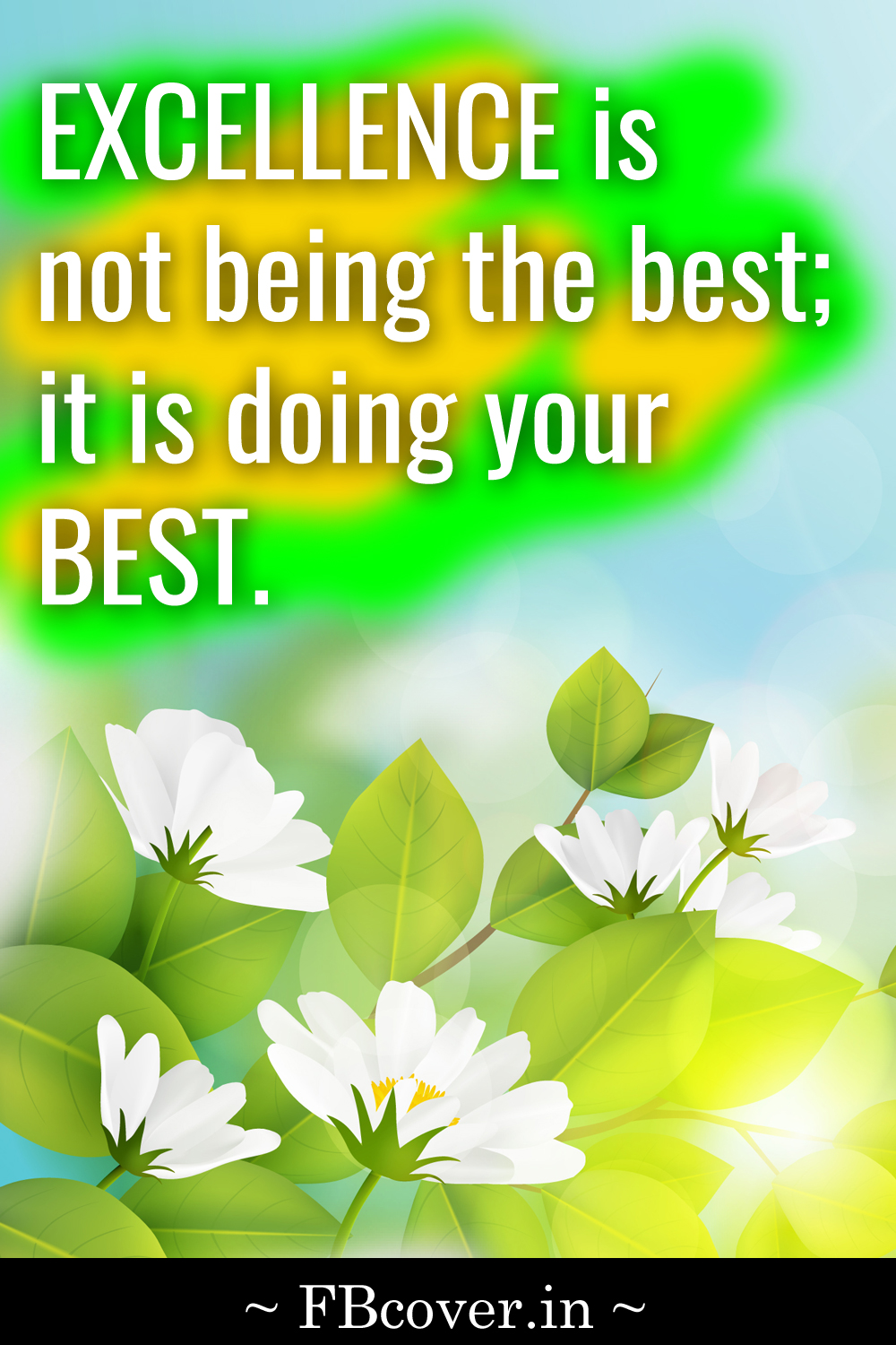 excellence is not being the best; it is doing your best, excellence quotes